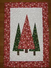 trees quilted wall hanging