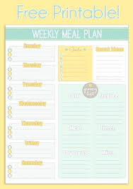 Meal Planning Spreadsheet Excel Free Meal Plan Template Monthly Printable Excel Gluten Diet