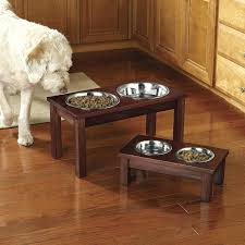 raised dog bowls wooden uk