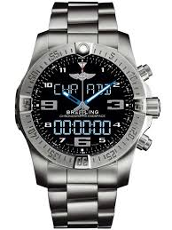 breitling mens silver chronograph exospace b55 bracelet watch breitling mens silver chronograph exospace b55 bracelet watch eb5510h2 be79 181e t h baker family jewellers