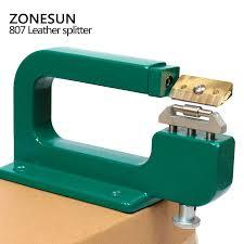 zonesun handmade leather edge strips strap skiving cutting processing splitting machine l tool
