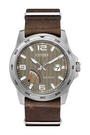 citizenmen s eco drive leather strap watch 42mm