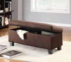 Ottomans For Bedroom Furniture Dark Brown Fabric Ottoman Storage Bench For Bedroom