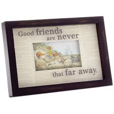 Hallmark Good Friends Winnie The Pooh Framed Print Art