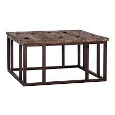 reclaimed wood coffee table industrial modish living pertaining to square prepare 18