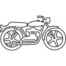 Disegno Di La Moto Da Colorare Per Bambini Disegnidacolorareonlinecom