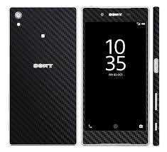 sony z5 compact. black carbon skin decal for sony xperia z5 compact