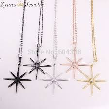 all compatible fashion 5 strands zyz316 5107 flower pendant necklace micro pave cubic zirconia crystal