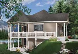 A cottage is, typically, a small house. One Bedroom Lake House Plan Plan 1145