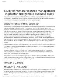 study of human resource management in proctor and gamble business study of human resource management in proctor and gamble business essay human resource management recruitment