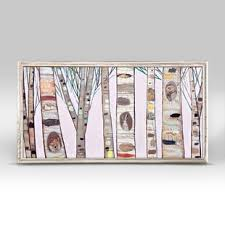 canvas wall art birch trees