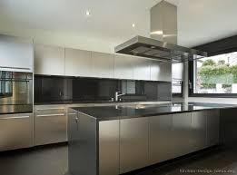 stainless steel kitchen fresh design cabinets with black granite pertaining to modern metal kitchen island