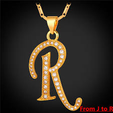 Collare J R Alphabet Letter Pendant Necklace Uni Gold Silver Color Initial Letter Necklace New Fashion 640x640