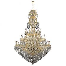maria theresa collection 72 light gold finish crystal chandelier 78 d x 126 h