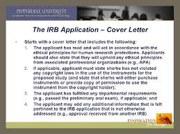 the irb application cover letter irb cover letter sample