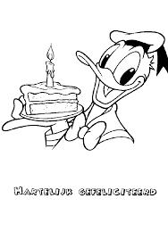 Kleurplaten Donald Duck Verjaardag