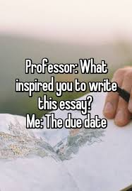 best funny college humor ideas lol funny professor what inspired you to write this essay me the due date