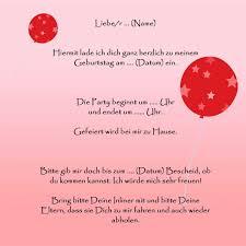 Einladungstexte Für Den Kindergeburtstag Kindergeburtstagws