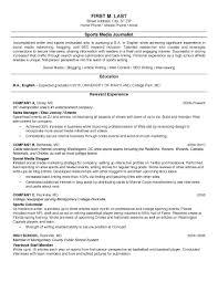 Internship Resume Example Example Of Resume Example Of College