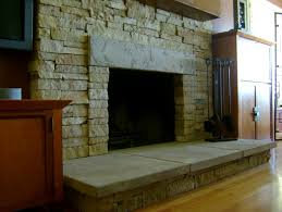 refacing brick fireplace with stacked stone