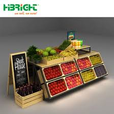 Wooden Fruit Display Stands Adorable China Supermarket Wooden Vegetable And Fruit Shelving Display Stand