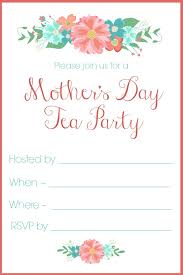 tea party invitations free template mothers day tea party invitation free printables