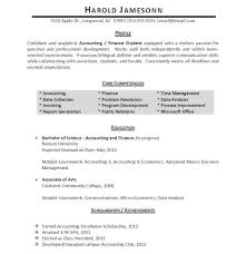 Sample Resume For Accounting Student Free Resume Example And