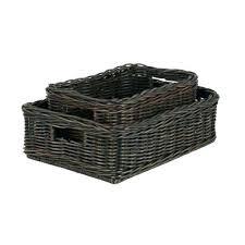 office storage baskets. Office Storage Baskets The Basket Lady Basic Wicker Bins . O