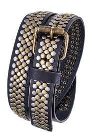 nadya s closet distress leather belt front cropped image