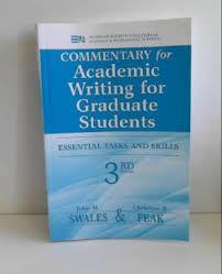Cover image for      Commentary for Academic Writing for Graduate Students   rd Ed