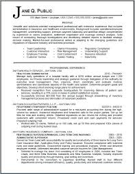 Resume Examples For Healthcare Healthcare Executive Resume Samples ...