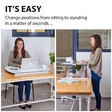 adjustable standing desk office. Adjustable Standing Desk Converter By G Pack Pro Slim- Elite Height-Adjustable Sit-Stand - Lift Office Computer Workspace With Gas Spring Riser Workstation