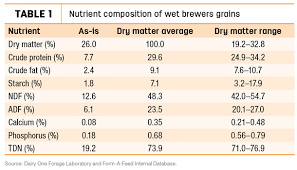 Steer Feeding Chart Beer Fed Beef Considerations For Feeding Cattle Brewers