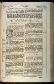 The Wisdome Of Solomon Original 1611 Kjv