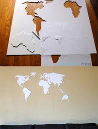 map of decor diy world map wall decor diy world map wall art made with