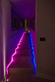 lighting ideas. Coloured Funky Stair Lighting Idea Ideas