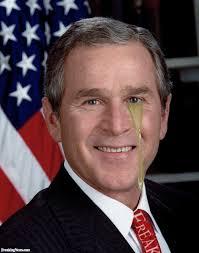 George W Bush Book Upside Down