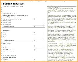 Business Start Up Expenses Startup Expenses Template Business Start Image Collections