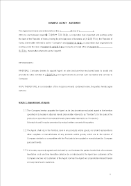 Business Agency Agreement Template Free Business Agent Agreement Templates At Allbusinesstemplates 17