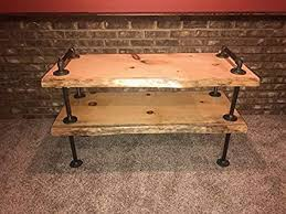 live edge tv stand. Contemporary Stand Industrial Pipe And Wood TV Stand Flatscreen Live Edge Rustic Vintage  Natural To Tv E