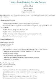 Digital Marketing Job Description Adorable Marketing Specialist Job Description Sample Trade Marketing