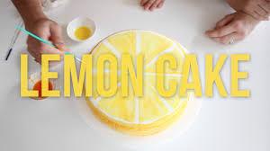 Lemon Cake Decorating Diy Youtube
