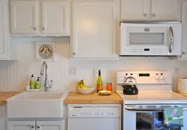 Wainscoting Kitchen Backsplash Kitchen Gorgeous Off White Beige Kitchen With White Beadboard