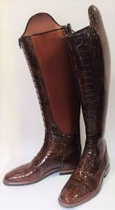 Petrie Dressage Boots Size Chart P416 5 5 Petrie Superior Classic In Dark Cognac Croco Print