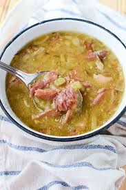 slow cooker smoked pork hock soup with