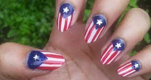 american flag nail art designs ideas