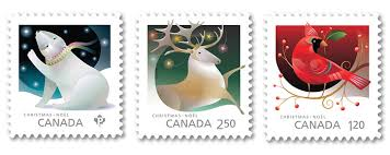 Risultati immagini per CANADIAN CHRISTMAS POSTAGE STAMPS