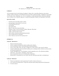 Sample Resume: Horticulture Resume Chantal Mullen Gladstone Ave.