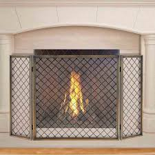 image of paint brass fireplace screen