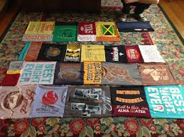 DIY T-Shirt Blanket/Quilt – Play My Rhapsody & Put the shirts however you want! I knew that since this was my first time  making a t-shirt quilt, it would not be perfect. Adamdwight.com